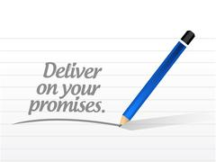 Stock Illustration of deliver on your promises message illustration
