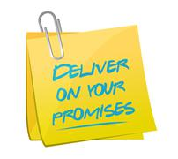Stock Illustration of deliver on your promises illustration design