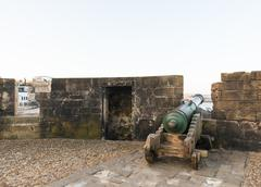 The cannons on the skala de le ville fort Stock Photos