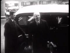 WW2 Joachim Von Ribbentrop Leaving Car Stock Footage