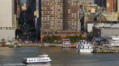 NYC Waterways 42nd Street - stock footage