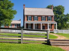 clover hill tavern at appomattox national park - stock photo