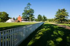 mclean house at appomattox court house national park - stock photo