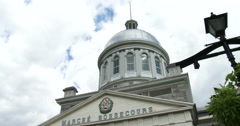 Marché Bonsecours in Montreal Stock Footage