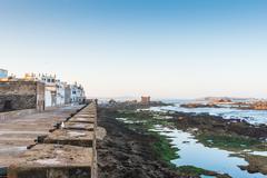 the coast at skala de le ville fort - stock photo