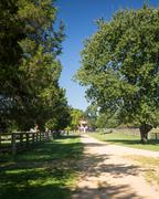 appomattox county courthouse national park - stock photo