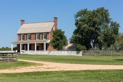 Clover hill tavern at appomattox national park Stock Photos