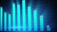 Modern staticstic graph chart seamless loop animation Stock Footage