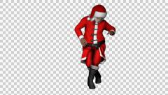 Santa Clause Salsa Dance Loop Stock Footage