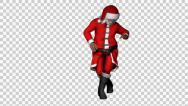 Stock Video Footage of Santa Clause Salsa Dance Loop