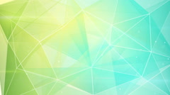 abstract triangle geometrical green cyan background loop - stock footage