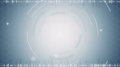grey abstract techno loopable background - stock footage
