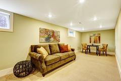 basement room interior - stock photo