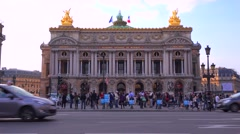 Exterior of the music academy of Paris. Stock Footage
