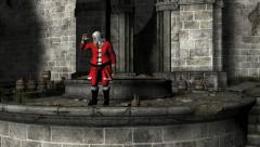 Santa Clause Workshop Castle Zoom In - stock footage