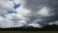 4K Storm Clouds Building over Humphreys Peak Part 2 Stock Footage