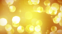 Golden glitters festive loopable background Stock Footage