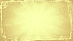 Grunge sunny sepia rays loopable background Stock Footage