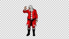 Santa Clause Looking Around - stock footage
