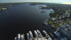 Aerial Boat Harbor Naples Florida Stock Footage