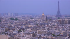 High angle view over the city of Paris. - stock footage