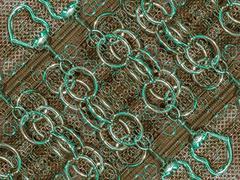 digital abstract geometric texture - stock illustration