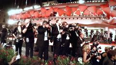 Red Carpet Paparazzi Venice Film Festival Stock Footage