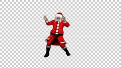 Santa Clause Swing Dance 2 Stock Footage