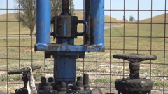 HD Oil pump station. Oil pipes. Extract installation. Oil Industry. - stock footage