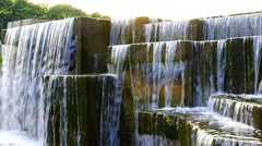 Waterfall in a City Park Stock Footage