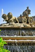 Cibeles fountain in madrid, spain Stock Photos