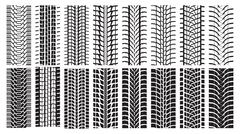 Stock Illustration of Tire Tracks, trace of the wheel