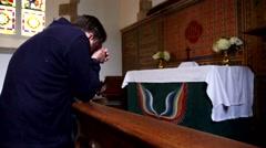 Praying Man Stock Footage