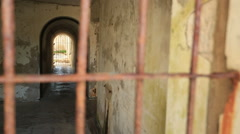Australian World War 1 coastal fort relic Stock Footage