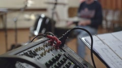 Band set up Stock Footage