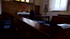 Praying at Altar - stock footage