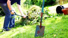 Garden Clear Up Stock Footage