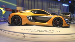 The world premiere racing coupe of Renault R.S.01 - stock footage