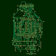 Microchip background, electronics circuit, EPS10 vector illustration Piirros