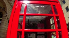 London Red Telephone Box 2 Stock Footage