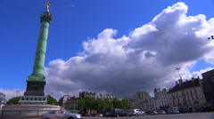A roundabout in Paris Bastille district. Stock Footage