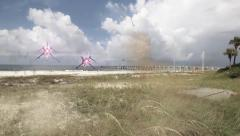 Alien Space Craft Flyby Florida Coastline Stock Footage