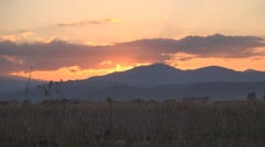 HD twilight landscape. Carpathians view. Sunset in mountains. Dusk in Fagaras.  - stock footage