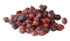 Heap of dry rosehip fruit Stock Photos