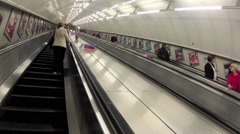 Leiscester Square Escalator Stock Footage