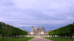 Distant shot of the beautiful chateau of Chambord in the Loire Valley in France. Stock Footage