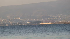 Distant view of New Faliro Stock Footage