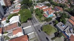 Aerial view of a rich area in Sao Paulo, Brazil Stock Footage