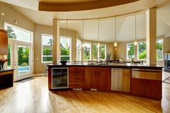 kitchen interior in luxury house. real estate in wa - stock photo