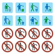 Litter icons set Stock Illustration